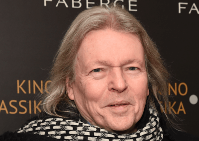 Playwright Christopher Hampton at the End of St Petersburg Gala Screening with Fabergé