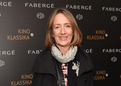 Francine Stock at the End of St Petersburg Gala with Fabergé