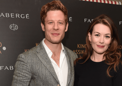 James Norton and Justine Waddell at the End of St Petersburg Gala with Fabergé