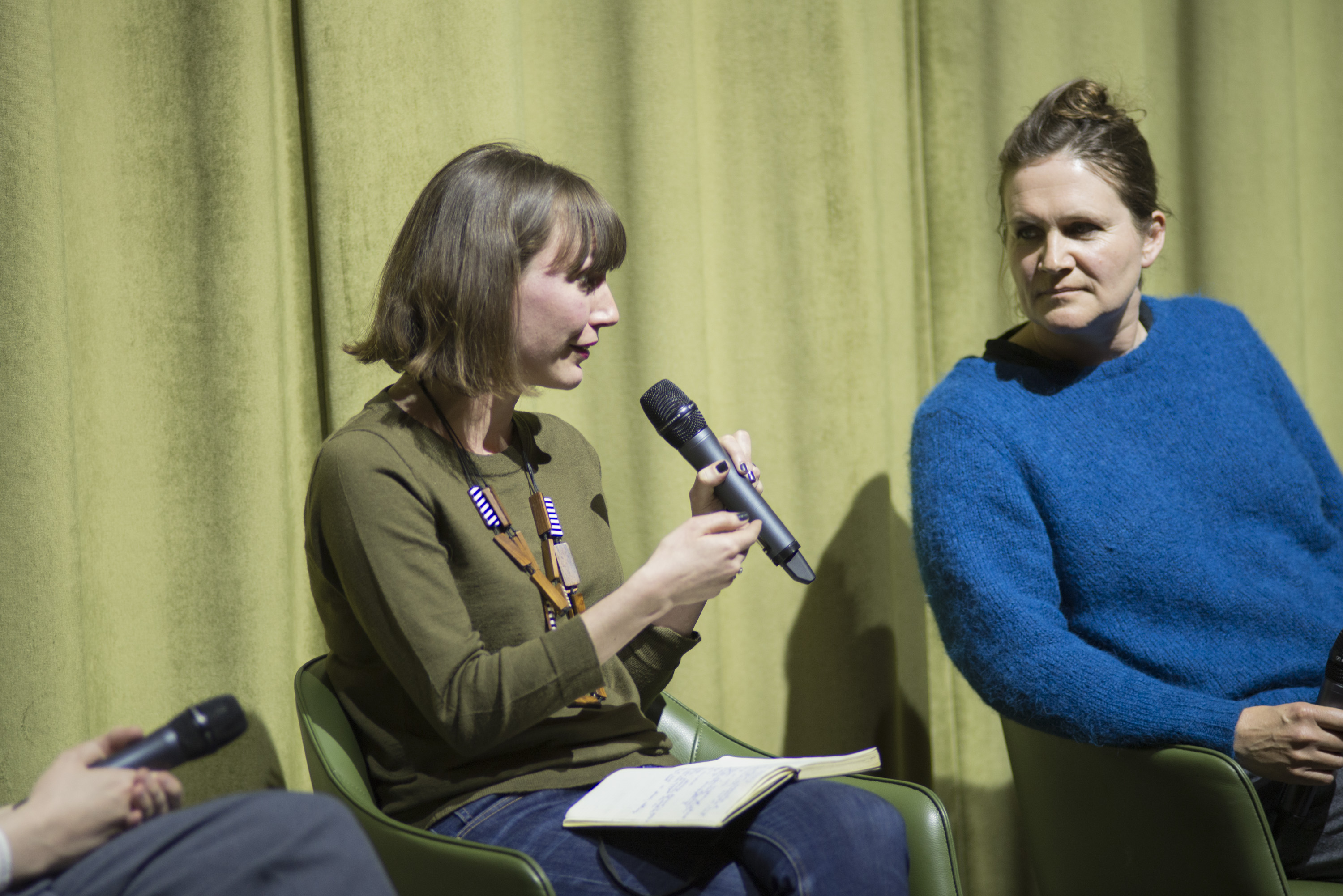 Erika Balsom in the panel discussion