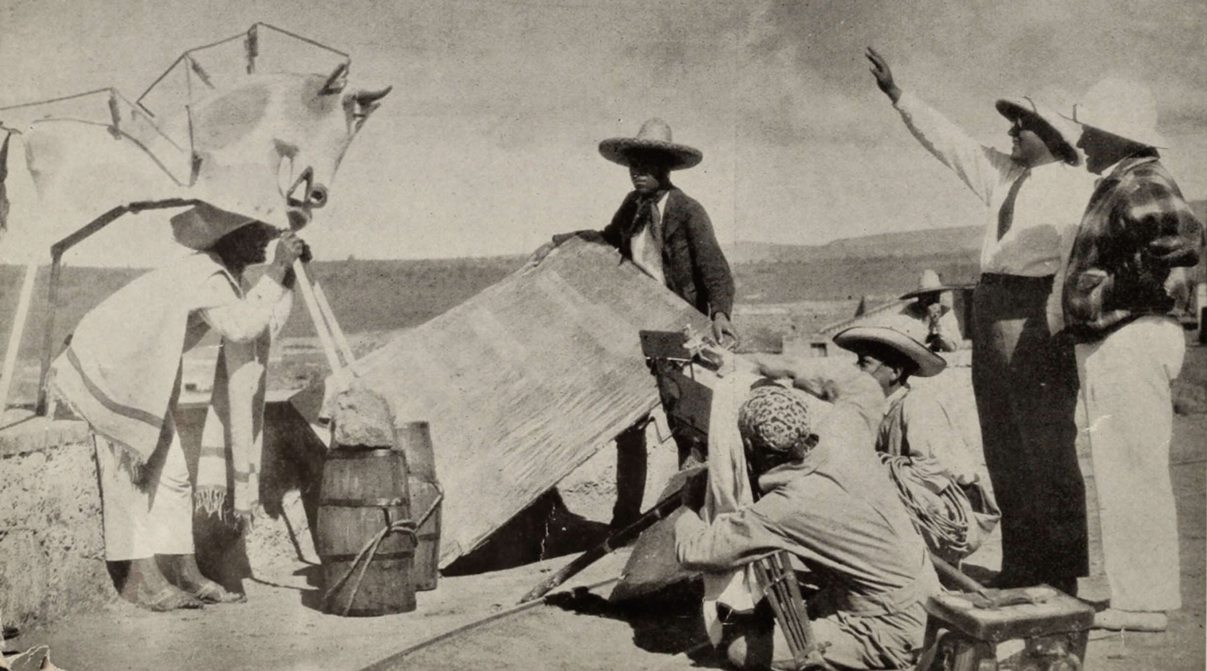 A still from Eisenstein's film shoot in Mexico