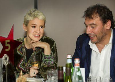 Anastasia Reznikovich and Boris Zimin at Kino Klassika's film concert of Sergei Eisenstein's October with the London Symphony Orchestra