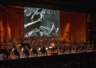 Kino Klassika's film concert of Eisenstein's October at the Barbican with the London Symphony Orchestra